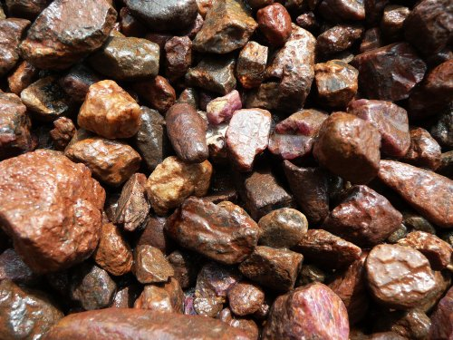 Fantasia Materials: 1 lb Sapphire and Ruby Rough - (Select from 3 Grades) - Raw Natural Crystals for Cabbing, Cutting, Lapidary, Tumbling, Polishing, Wire Wrapping, Wicca and Reiki Crystal Healing