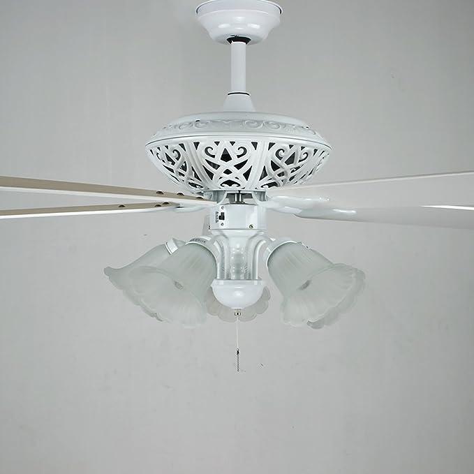 akronfire blanco ventilador de techo para salón o dormitorio comedor mando a distancia Silencioso ventiladores luz ...