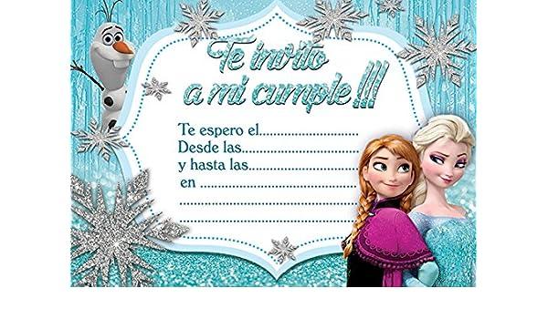 Casa Jardín Y Bricolaje Disney Frozen Invitación Tarjetas