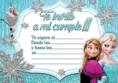 10 X Frozen Partido De Los Niños Invitaciones Elsa La Reina