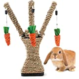 Hamiledyi Bunny Fun Tree Rabbit Toy Chewable Carrot Shaped Playpen