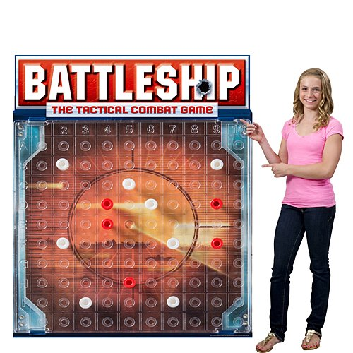 5 ft. 6 in. Hasbro Battleship Game Board Standee Standup Photo Booth Prop Background Backdrop Party Decoration Decor Scene Setter Cardboard -