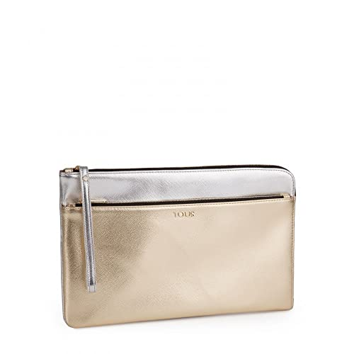 ae69649b5 Tous Clutch Essence en color plata-Oro: Amazon.es: Zapatos y complementos