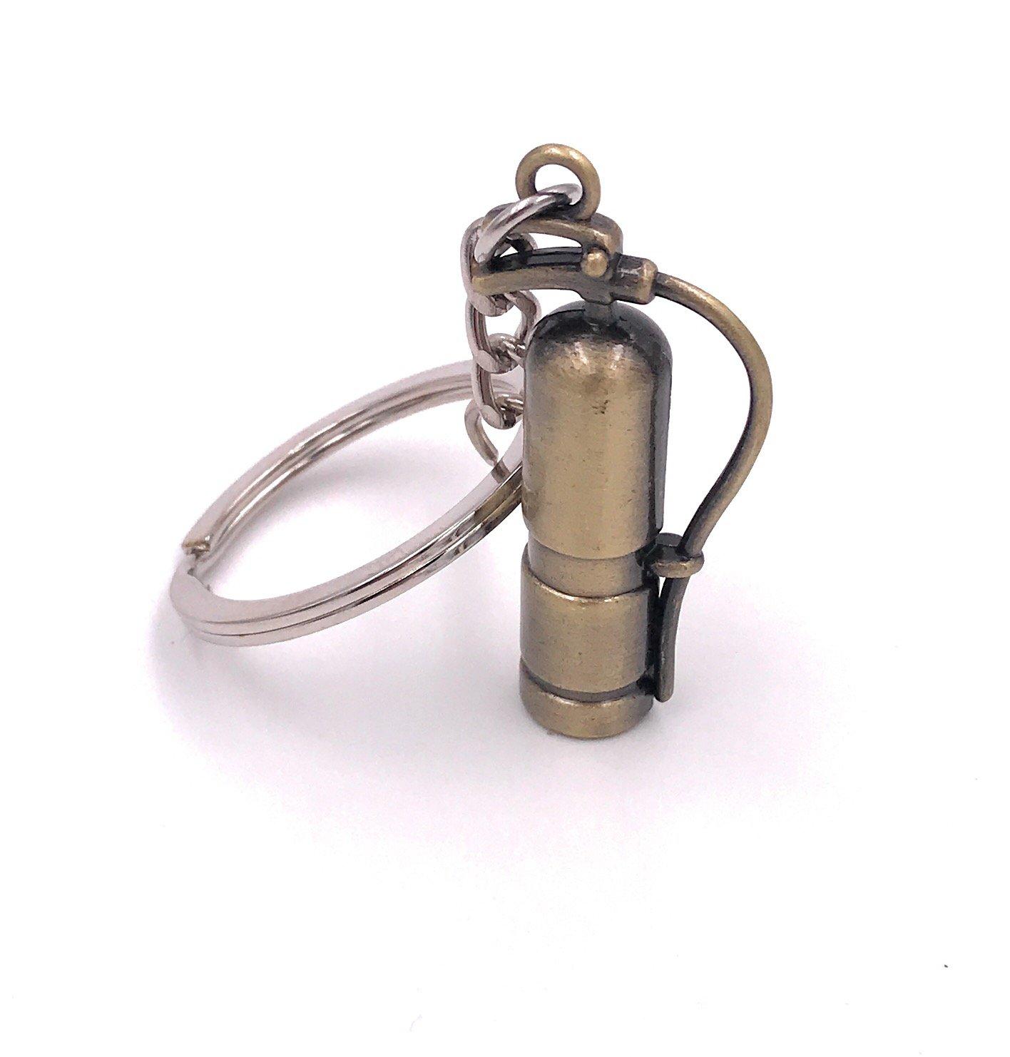 Llavero metal H-Aduanas extintor de bombero: Amazon.es: Equipaje