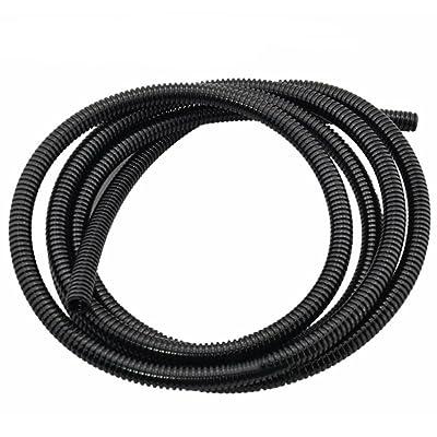 HOUTBY Black 7mm Width Split Loom Wire Flexible Tubing Conduit Hose Cover Car 3M Length: Automotive