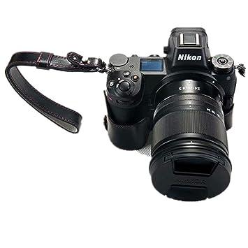 PU Funda de cuero para la cámara media para Nikon Z7 Funda protectora de la bolsa Funda inferior protectora para Nikon Z7 con correa