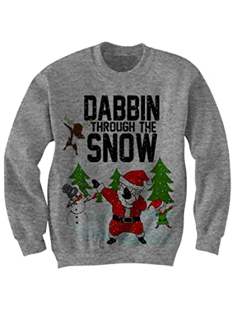 Celebrity Cotton Dabbin Through The Snow Christmas Sweater Dabbin Ugly  Sweaters at Amazon Women s Clothing store  b5c2ce415