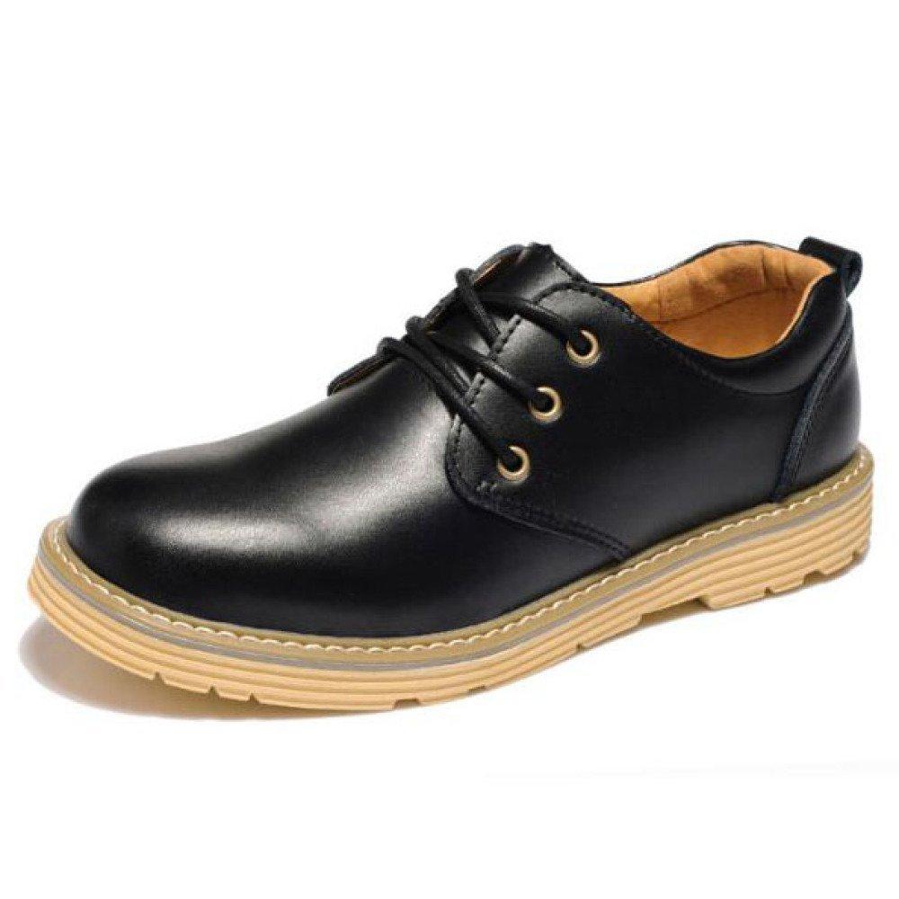 Herren Schuhe Leder Lace up Derby Schuhe Geschäft Casual Driving Schuhe Für Männer, Schwarz und Braun schwarz