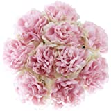 10 heads Artificial Peony Flowers Holding flowers bouquet Fake Hydrangea Silk Pink Green Flower Faux flower Bridal Decoration for Party Home Wedding