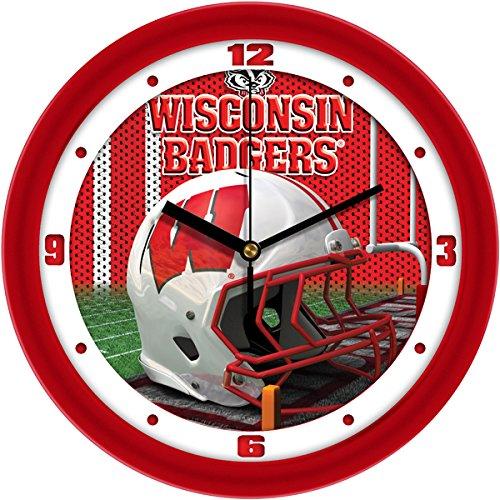 Clock Badgers Wall Wisconsin - SunTime NCAA Wisconsin Badgers Helmet Wall Clock