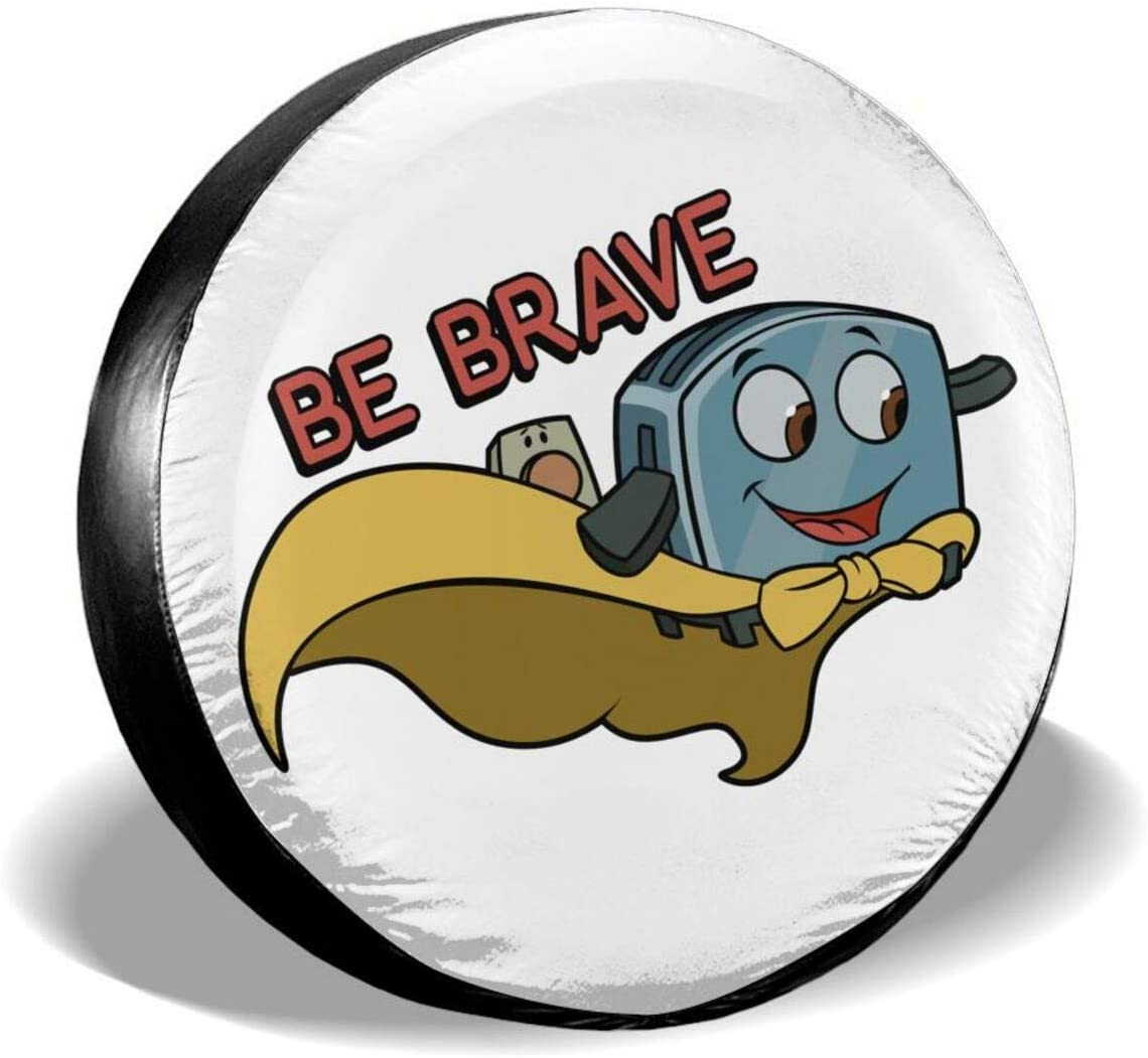BAIJEN Be Brave Little Toaster Spare Tire Cover Waterproof and Dustproof Tire Protection 14-17 (in)
