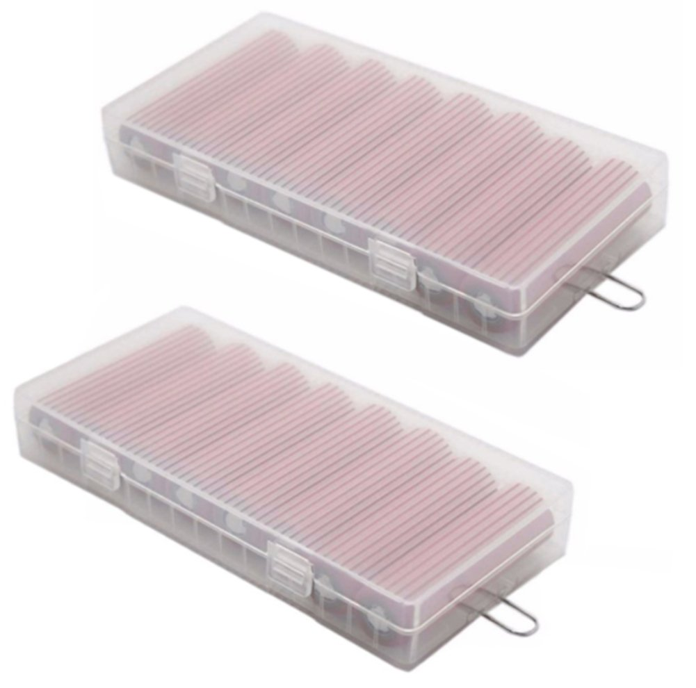 Ancefine 8 Cell 18650 Plastic Battery Storage Case with Hook Holder,2-Pack