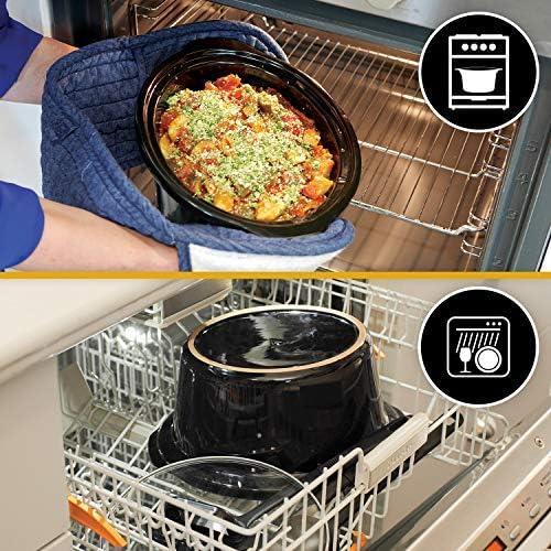Crock-Pot Mijoteuse numérique avec cocotte compatible four | 7,5l (10personnes ou plus) | Compatible lave-vaisselle | Acier inoxydable [CSC063X]