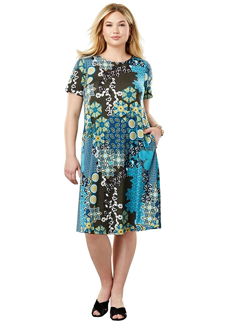 1088f70ad87 Jessica London Women s Plus Size A-Line Dress at Amazon Women s Clothing  store