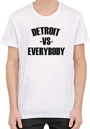 Detroit Vs Everybody Camiseta personalizada impresa para hombres | Algodón 100% superior peinado / anillado | Camiseta con estilo de calidad superior XX-Large: Amazon.es: Ropa y accesorios