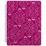 Custom Smart Cover (Magnetic) for Apple iPad 2 / 3 / 4 - Hot Pink White Floral