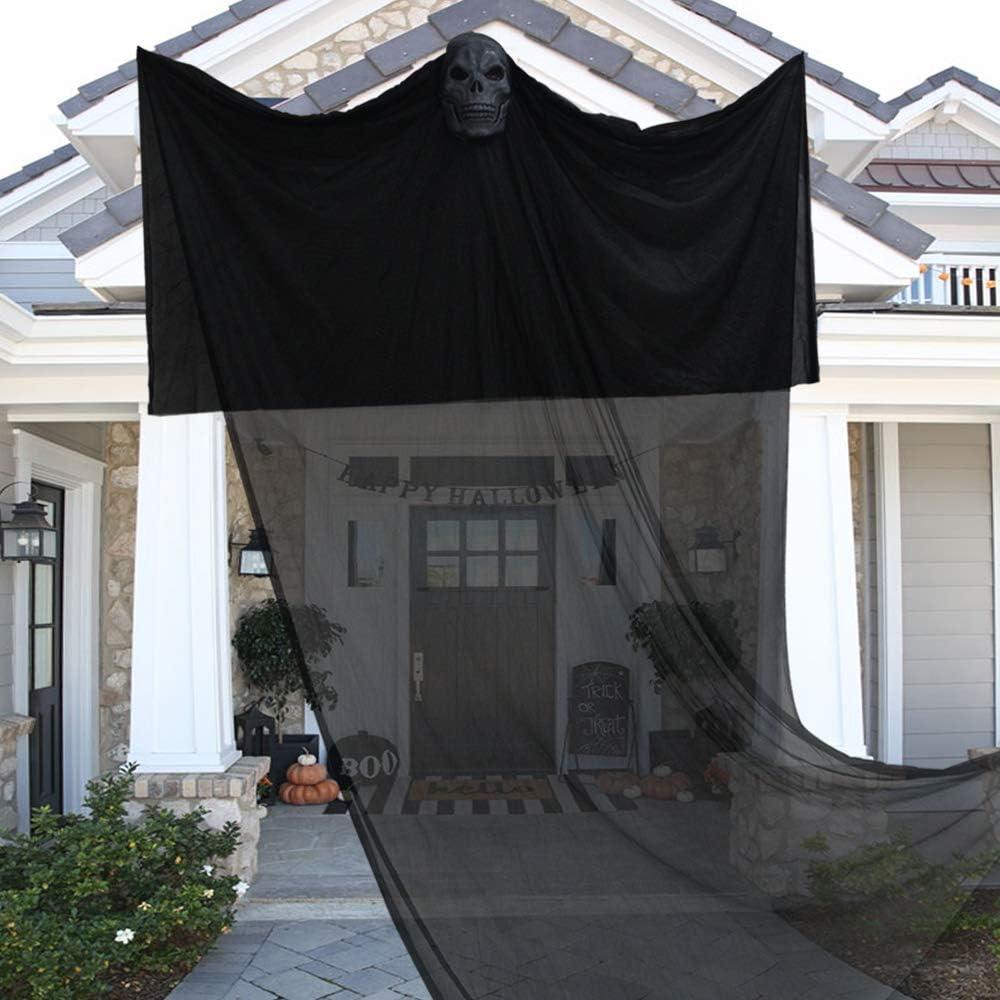 Tifeson Halloween Ghost Props Decoraciones – 6.5 pies x 10.8 pies Esqueleto de miedo Halloween decoración exterior interior: Amazon.es: Juguetes y juegos