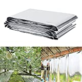 Cheap Plant Reflective Film,82.68 x 47.24inch Two-Sided Reflective Mylar Film Opaque Reflective Covering Sheets For Greenhouse Fruit Trees Increasing Temperature Light