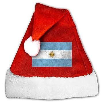Bandera de Argentina arte moda decoración Navidad Santa Claus sombreros rojo para adultos y niños