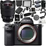 Sony Alpha a7R II Mirrorless Digital Camera with Sony FE 12-24mm f/4 G Lens 18PC Accessory Bundle – Includes 64GB SD Memory Card + 2x Replacement Batteries + MORE