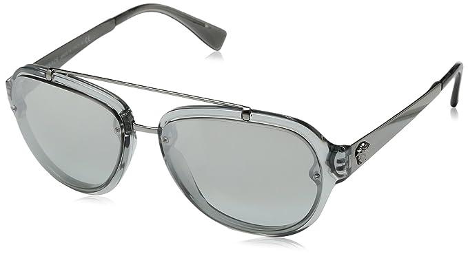 Versace 0Ve4327, Gafas de Sol para Hombre, Transparent Grey ...