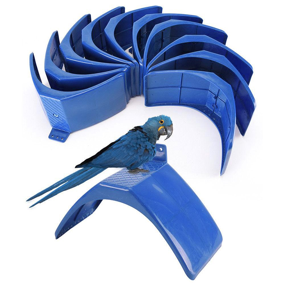 YOEDAF 10pcs Bird Pigeon Stand Support Dove Rest Stand Accessories,Frame Grill Dwelling Pigeon Perches Roost Bird Supplies(Blue)