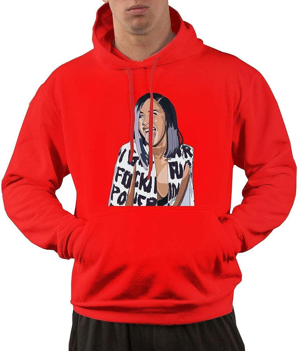 JEEZORN Fashion Rap Critic Reviews Cardi B Bodak Yellow Sweater for Men Black