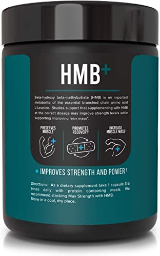 Inno Supps HMB 1500mg HMB Beta-Hydroxy Methylbutyrate 50mg Astragin, Enhanced Absorption Per Serving, Preserves Muscle, Promotes Recovery, Increase Muscle Mass, Gluten Free – 100 Veggie Capsules