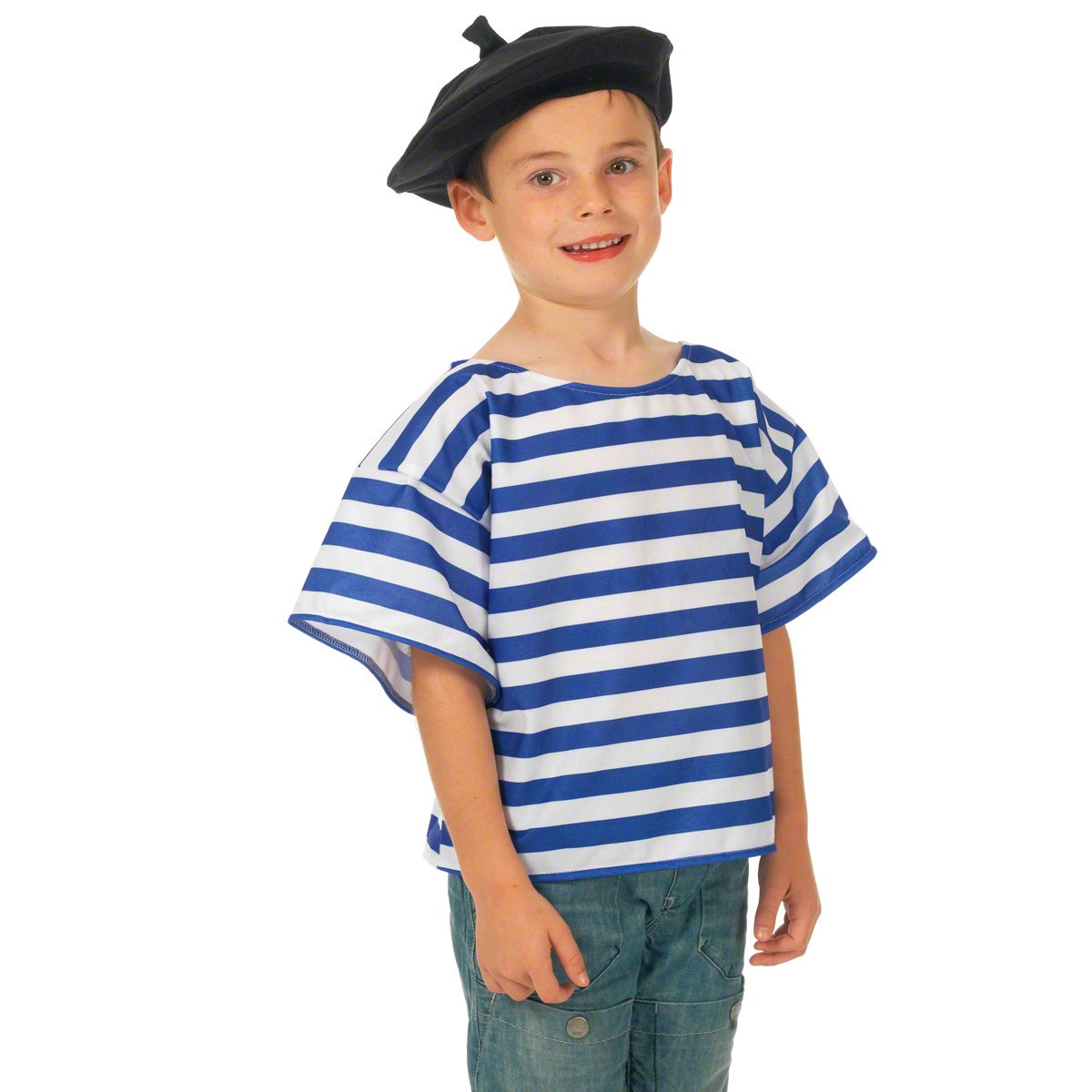 Charlie Crow French T-shirt and Beret Costume for kids one size fits ...