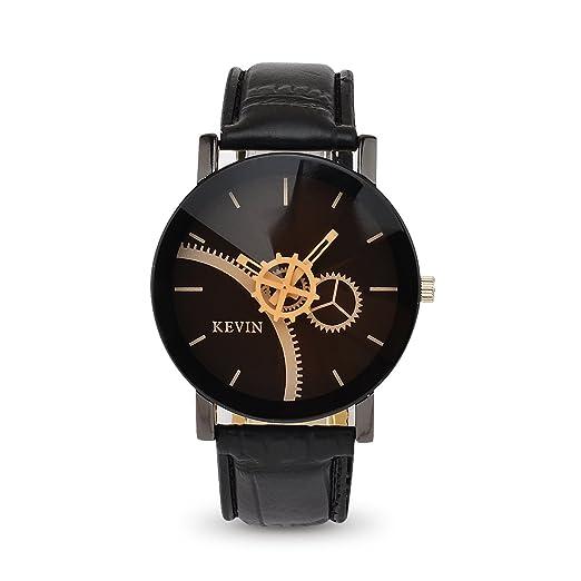 LONGQI WATCH Gear - Reloj de pulsera para pareja (mecanismo de cuarzo, con marcas