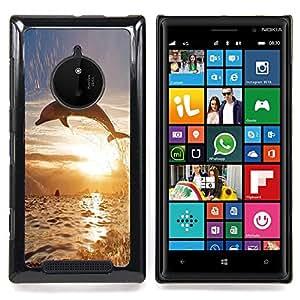 Eason Shop / Premium SLIM PC / Aliminium Casa Carcasa Funda Case Bandera Cover - Animal Delfín So Long Sunset Ocean - For Nokia Lumia 830