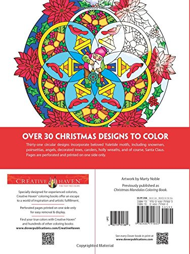 creative haven christmas mandalas coloring book creative haven coloring books amazoncouk marty noble 8601411318382 books - Christmas Mandalas Coloring Book