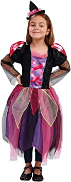 Disfraz de bruja lila para niña: Amazon.es: Juguetes y juegos