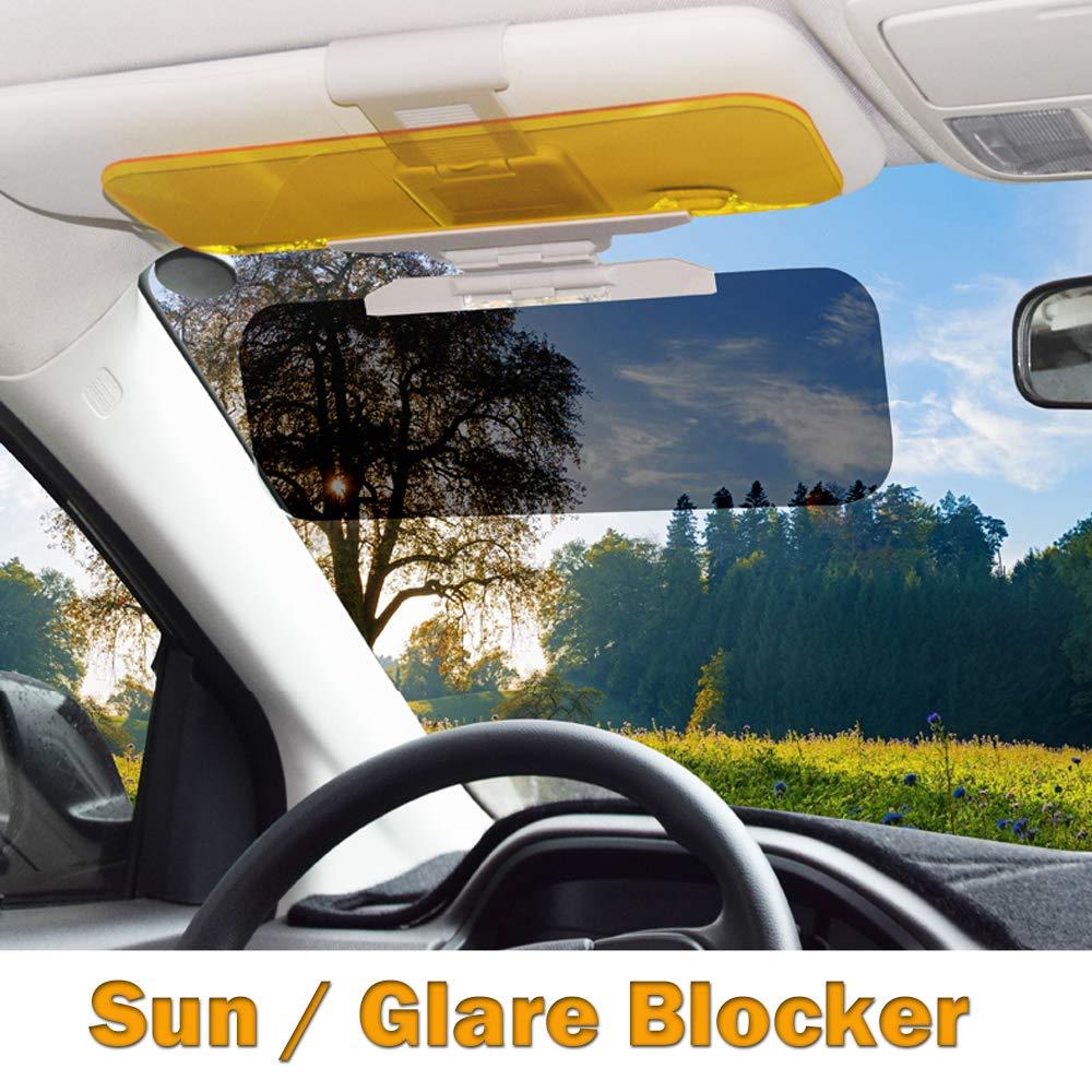 Car Sun Visor Extenders Anti Glare Car Visor Extender Car Visor Sun Blocker Anti-Glare Extender Windshield For Day Night 1 PACK 2 In 1 Car Sun Visor Extension Universal Windshield Driving Visor