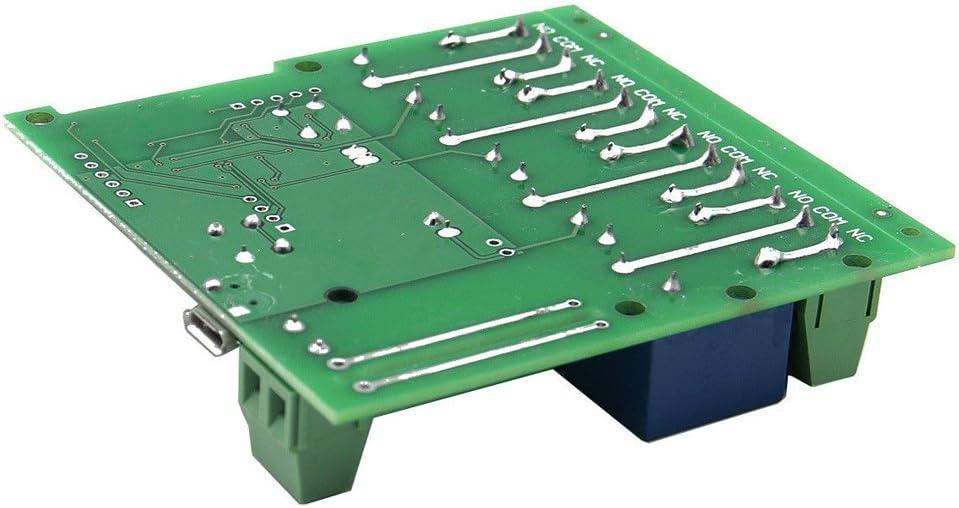 Snoff DC5V 4Voies Module de Commutation de Contr/ôle sans Fil Intelligent,Mode de Contr/ôle Jog//Self Lock,Commutateur WiFi//Timing//Soutien T/él/écommande//Contr/ôle Vocal Mod/èle 4CH-DC5V