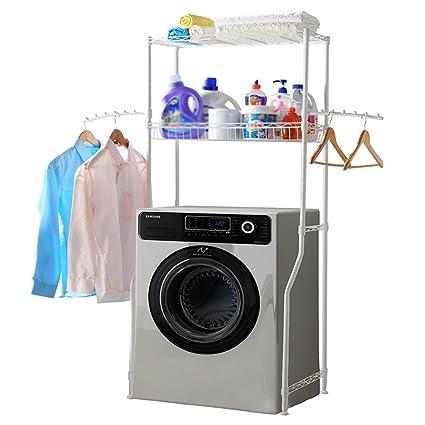 DIDIDD Shelf Hwf Bathroom Shelves Shelf Multifunction Washing Machine  Storage Rack Finishing Shelves,Ivory