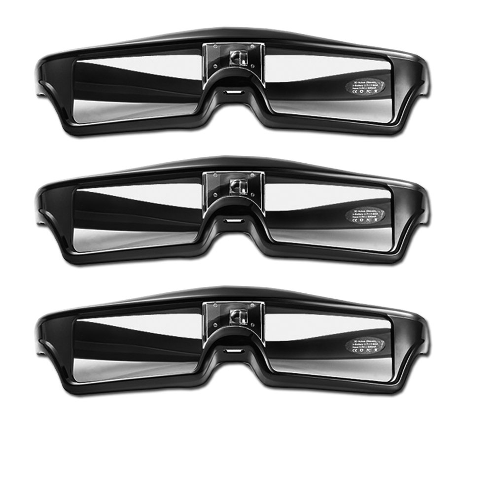 Goswot 144Hz Rechargeable Active Shutter Eyewear for All DLP-Link 3D Projectors(Pack of 3) by Goswot