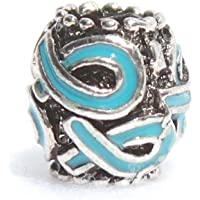 Teal Multi Ribbon Charm Buy 1 Give 1 -- 2 Charms for only $9.99