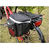 ZJchao 25L Water-resistant Bicycle Seat Bag, Cycling Bicycle Bike Rack Back Rear Seat Tail Carrier Trunk Double Pannier Bag Outdoor (Red)