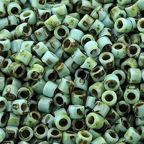 Miyuki Delica Seed Beads Size 11/0 Picasso Seafoam Green Matte DB2264 7.2 Gram Tube Delica Matte
