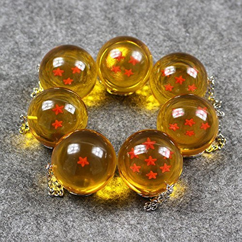 My Smart Choice DBZ Collections 7pcs//set 2.5cm New In Bag 7 Stars Crystal Balls Keychain Pendant