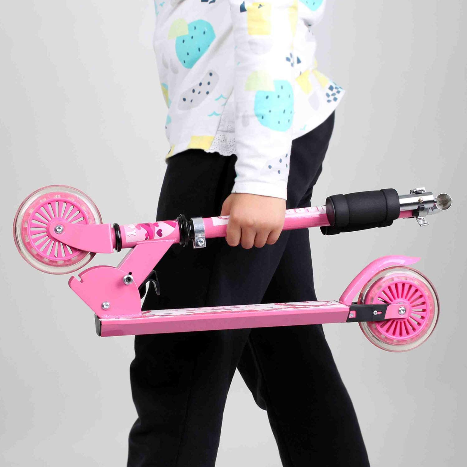 Adjustable Height Kick Scooters for Boys and Girls Lightweight Folding Kids Scooter Birtech Kids Kick Scooters Blue Camouflage