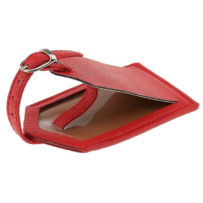 D DOLITY Premium Etiquetas Marcadoras de Maletas Pieza de Identificaci/ón de Equipaje Naranja Rosa Roja