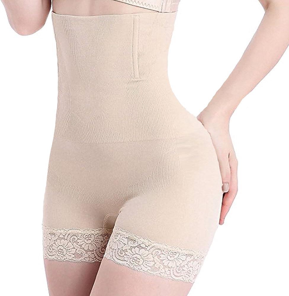 Vacoco Womens Hi-Waist Body Shaper Butt Lifter Shapewear Trainer Tummy Control Panties Seamless Thigh Slimmers Cincher