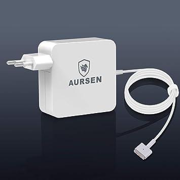 Aursen Compatible para Adaptador de Corriente 60W-Magsafe 2 T, Apple Charger MacBook Pro 13 para Model A1435/A1465/A1502