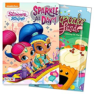 Primary Colors Shaped Board Book Set for Early Readers Bundle Includes Separately Licensed Activity Pack with Stickers Crayons and Learning to Read Bookmark for Kids (Shimer and Shine)