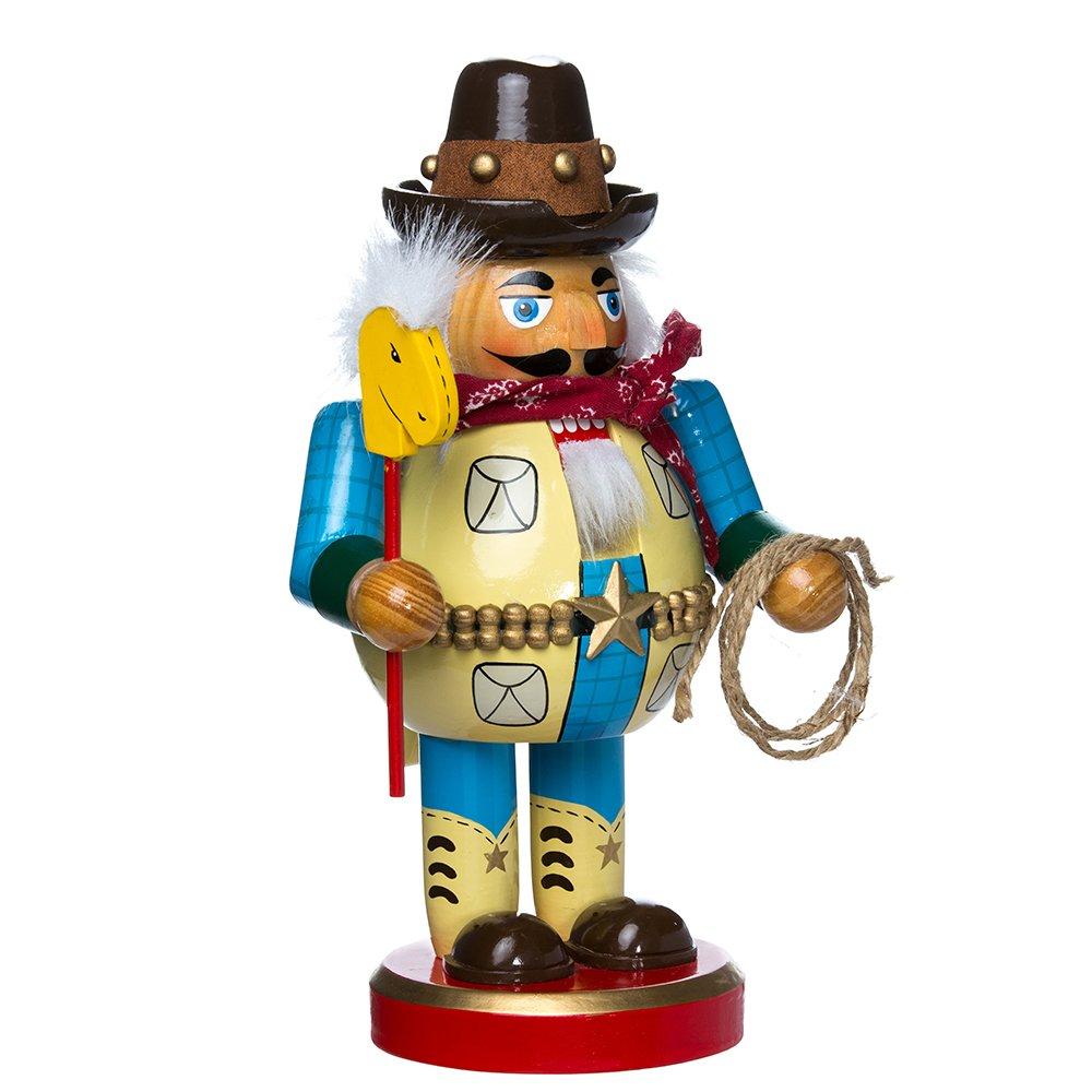 Kurt Adler J1409 Chubby Cowboy Nutcracker, 10.25-Inch