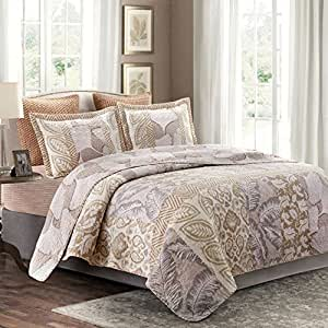 .com: Hedaya Home Fashions Sandalia Quilt Set, King: Home & Kitchen