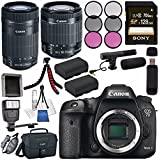 Canon EOS 7D Mark II DSLR Camera 9128B002 + Canon EF-S 55-250mm Lens + Canon EF-S 18-55mm f/3.5-5.6 IS STM Lens + LPE-6 Lithium Ion Battery + Sony 128GB SDXC Card + Flexible Tripod Bundle