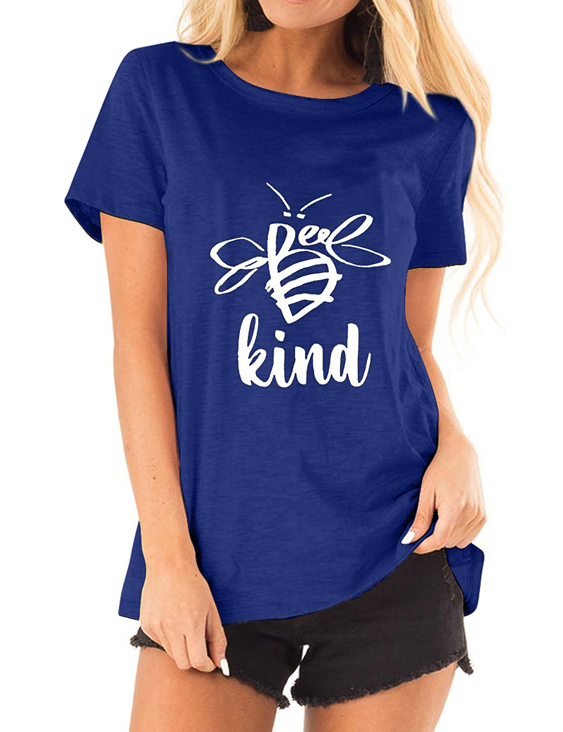 Acun Womens Be Kind Tshirt Kiss T-Shirt Bee Graphic Tee Grinch Shirt Girls Tops with Sayings